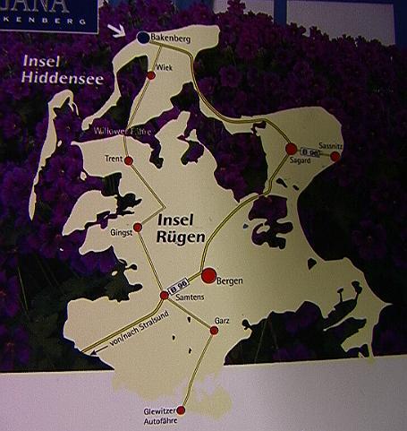 Karte von R�gen