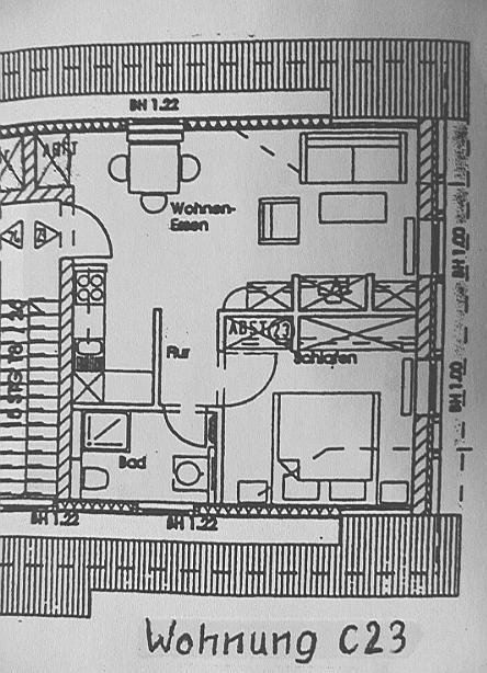 Wohnung Detailzeichnung